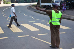 SriLankan-Polizei bemannt Stockfoto