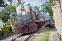 Srilankan train Stock Photos