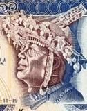 SriLankandansare med den lokala huvudbonaden Royaltyfri Bild