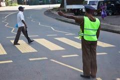SriLankanpolisman Arkivfoto