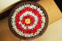 Srilankesisk kultur av traditionell blommakonst arkivbild