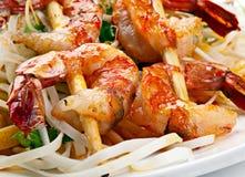 Srimp et nouilles Photo stock