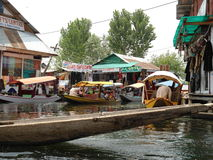 Srinagar. Commerce in Srinagar, Kashmir in India Stock Image