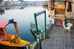 Srinagar Dal lake houseboat life Royalty Free Stock Photo