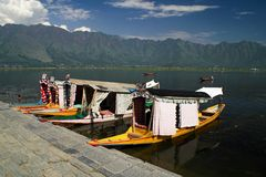 Srinagar and Dal lake in Indian Kashmir Royalty Free Stock Photography