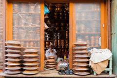 Srinagar Kashmir General Strike Empty Store Royalty Free Stock Images