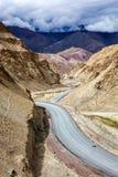 Srinagar Leh national highway NH-1 in Himalayas. Ladakh, India Royalty Free Stock Photos