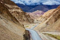 Srinagar Leh national highway NH-1 in Himalayas. Ladakh, India Royalty Free Stock Image