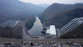 Srinagarind水坝,泰国 免版税库存照片