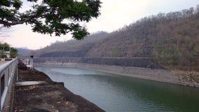 Srinagarind水坝,泰国 免版税图库摄影