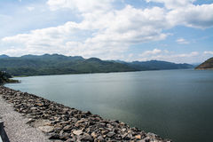 Srinagarind Dam. The Srinagarind Dam is an embankment dam on the Khwae Yai river in Si Sawat District of Kanchanaburi Province, Thailand Royalty Free Stock Photos