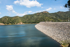 Srinagarind Dam. The Srinagarind Dam is an embankment dam on the Khwae Yai river in Si Sawat District of Kanchanaburi Province, Thailand Stock Photo