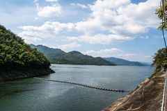 Srinagarind Dam. The Srinagarind Dam is an embankment dam on the Khwae Yai river in Si Sawat District of Kanchanaburi Province, Thailand Royalty Free Stock Photo