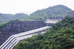Srinagarind Dam On The Khwae Yai River In Kanchanaburi Province Royalty Free Stock Image