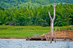 Srinakarin Dam thailand. Srinakarin Dam Location at  Kanchanaburi, Thailand Stock Image