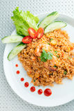 Sriracha Fried Rice with Shrimp royalty free stock images