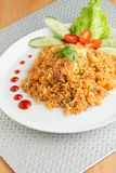 Sriracha Fried Rice with Shrimp Stock Image