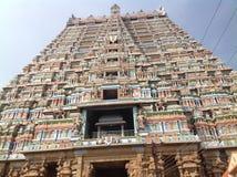 Srirangam寺庙塔 免版税图库摄影