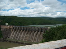 Srisailam Dam, India. The Srisailam Dam is constructed across the Krishna River on the border of Mahabubnagar District, Telangana and Kurnool district, Andhra Stock Photo