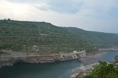 Srisailam dam, Andhra Pradesh, India Stock Photo