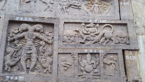 Srisailam temple sculpture, Andhra Pradesh, India Royalty Free Stock Photography