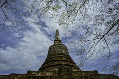 Srisat Chanalai Historical Park 6. This is pagoda at Srisat Chanalai Historical Park stock image
