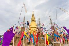 Sriwiengchai pagod på Wat Phra Bat Huai Tom Royaltyfria Bilder