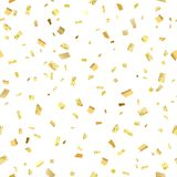 Srlash del oro del confeti Foto de archivo