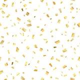 Srlash dell'oro dei coriandoli Fotografia Stock