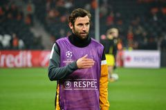 Srna before the match of the Champions League Stock Images