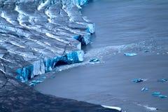 Srodzy lodowowie Arktyczny Żywy lodowiec Zdjęcie Stock