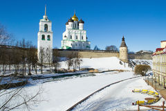 Antyczny Pskov Kremlin Zdjęcia Royalty Free