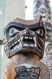 Srogi totem w Alaska zdjęcie stock
