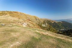 Srogi wiatr zamiatający krajobraz przy Hohneck fotografia stock