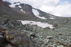 Srogi wysokogórski góra krajobraz obraz royalty free