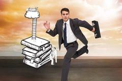 Srogo biznesmen w hury Zdjęcia Stock