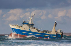 Srogo trawler Zdjęcie Royalty Free