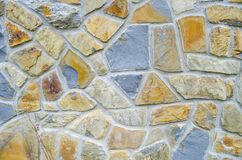 Srone wall background. Pattern of color stone wall texture Royalty Free Stock Photos