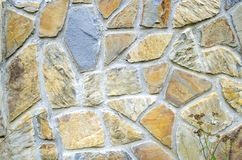 Srone wall background. Pattern of color stone wall texture Stock Images