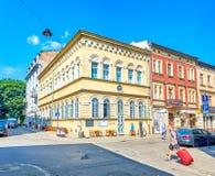 Srossroad in oud Krakau, Polen royalty-vrije stock foto's