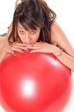 Srotolamento della sfera di esercitazione Fotografie Stock