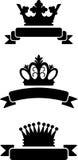 Krowns de roi avec des rubans illustration de vecteur