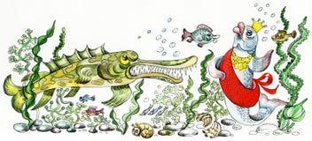 Srta. River stock de ilustración