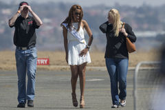 Srta. South Africa hace un aspecto en el airshow Fotos de archivo