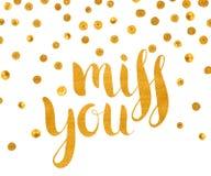 Srta. texturizada oro de la inscripción usted libre illustration