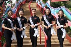 Srta. Tourism Queen Thailand 2017 del viaje de la excursión que acampa Imagen de archivo libre de regalías
