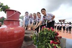 Srta. Tourism Queen Thailand 2017 del viaje de la excursión que acampa Fotografía de archivo