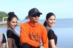 Srta. Tourism Queen Thailand 2017 del viaje de la excursión que acampa Fotos de archivo