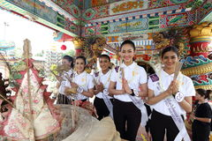 Srta. Tourism Queen Thailand 2017 del viaje de la excursión que acampa Fotografía de archivo libre de regalías
