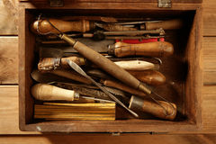 Srtist hand tools for handcraft works Royalty Free Stock Photo